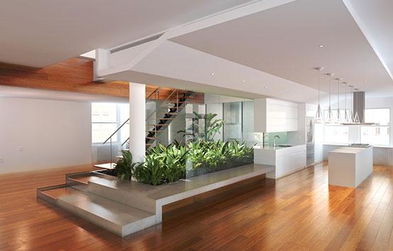 interieur landscape evergreen - paysages intérieurs